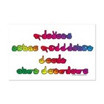 Rainbow PREVENT NOISE POLLUTION Mini Poster Print
