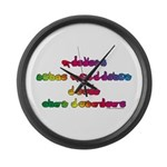 Rainbow PREVENT NOISE POLLUTION Large Wall Clock