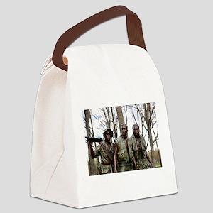 Three Men Soldier Statue Canvas Lunch Bag