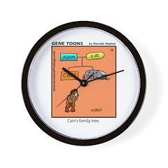 #16 Cain's family tree Wall Clock