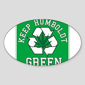 Keep Humboldt Green Oval Sticker