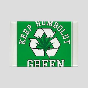 Keep Humboldt Green Rectangle Magnet
