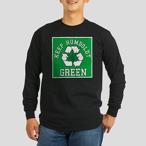 Keep Humboldt Green Long Sleeve Dark T-Shirt