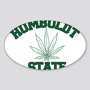 Humboldt Pot State Oval Sticker