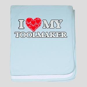 I Love my Toolmaker baby blanket