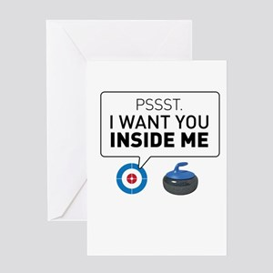 I want you inside me Greeting Cards