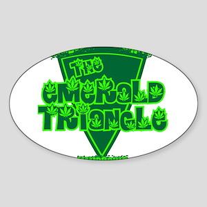 The Emerald Triangle Oval Sticker