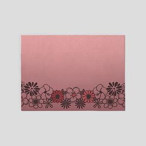 Kitschy Flower Medley 5'x7'Area Rug