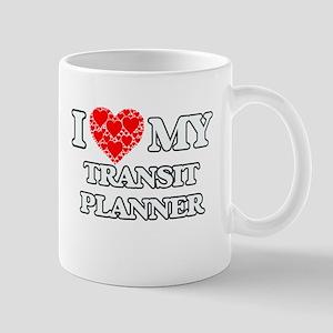 I Love my Transit Planner Mugs