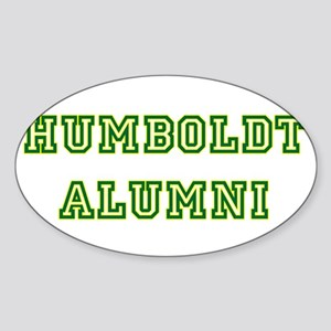 Humboldt Block Alumni Oval Sticker