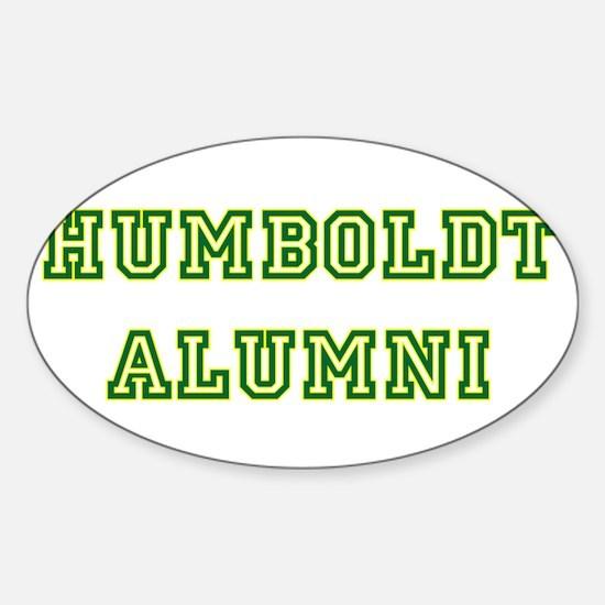 Humboldt Block Alumni Oval Decal