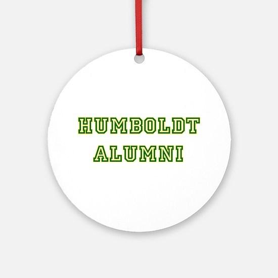 Humboldt Block Alumni Ornament (Round)
