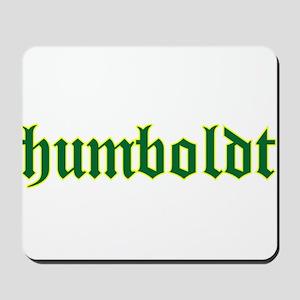 Humboldt Green Script Mousepad