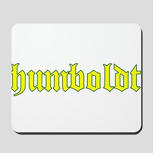 Humboldt Gold Script Mousepad