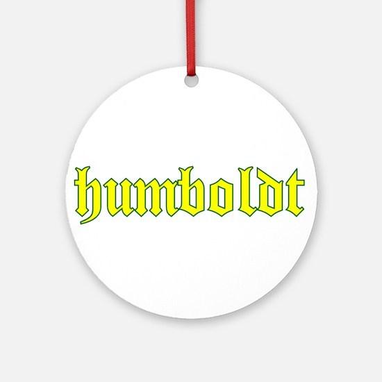 Humboldt Gold Script Ornament (Round)