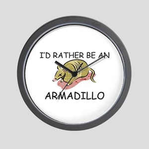 I'd Rather Be An Armadillo Wall Clock