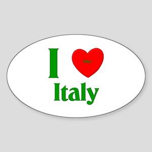 I Love Italy Oval Sticker