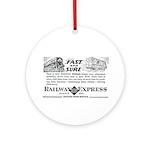 Fast & Sure-Railway Express Keepsake (Round)
