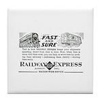 Fast & Sure-Railway Express Tile Coaster