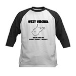Funny West Virginia Motto Kids Baseball Jersey