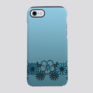 Kitschy Flower Medley Turquo iPhone 8/7 Tough Case