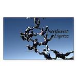 Northwest Express Rectangle Sticker