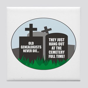 Never Die Tile Coaster