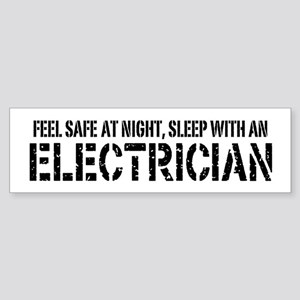 Feel Safe With An Electrician Bumper Sticker