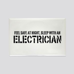 Feel Safe With An Electrician Rectangle Magnet