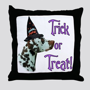 Dalmatian Trick Throw Pillow