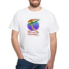 White T-Shirt : Proud Hindu