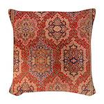 English Axminster Woven Throw Pillow