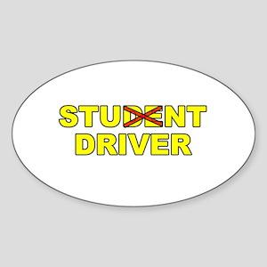 Student Stunt Driver Oval Sticker