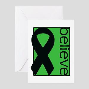 Green (Believe) Ribbon Greeting Card