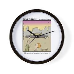 #61 Book on genealogy Wall Clock
