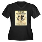 Benny Siegel Women's Plus Size V-Neck Dark T-Shirt