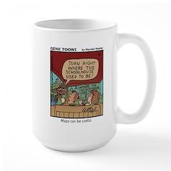 #65 Maps can be useful Large Mug