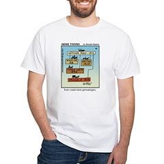 #66 Roads genealogy White T-Shirt