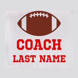 Football Coach Throw Blanket