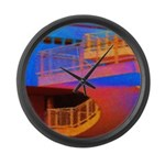 Stairway to Where? Large Wall Clock