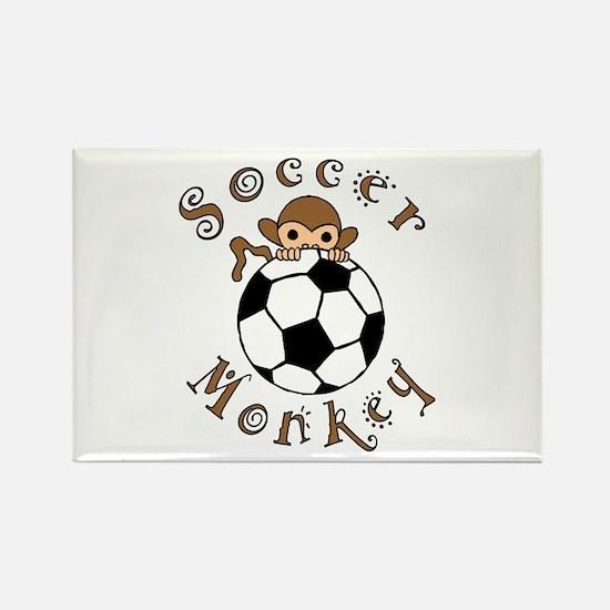 Soccer Monkey Rectangle Magnet