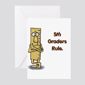 5th Graders Rule Greeting Cards (Pk of 20)