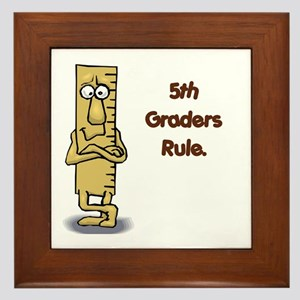 5th Graders Rule Framed Tile