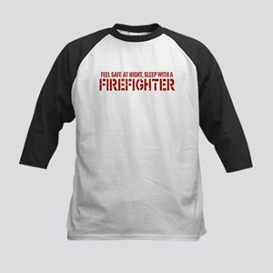Feel Safe With A Firefighter Kids Baseball Jersey