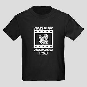 Rockhounding Stunts Kids Dark T-Shirt