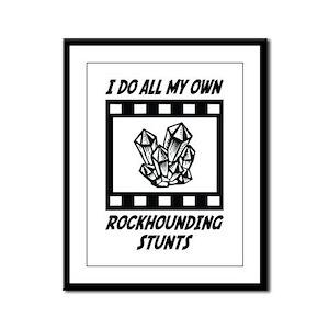 Rockhounding Stunts Framed Panel Print