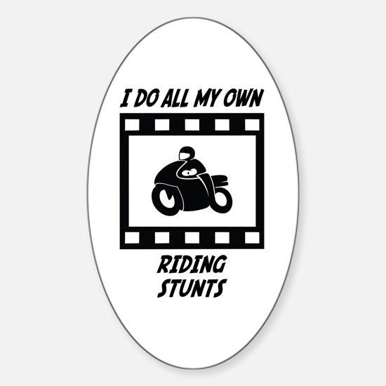Riding Stunts Oval Decal