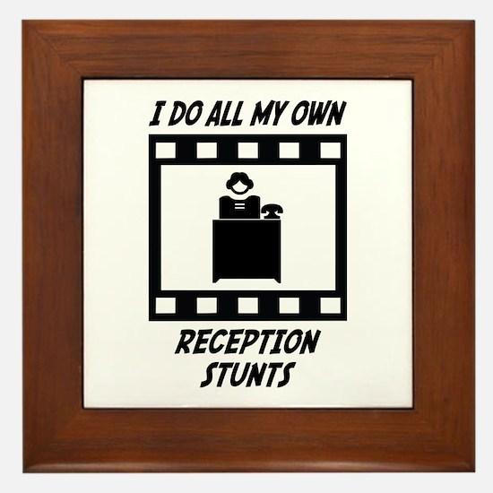 Reception Stunts Framed Tile