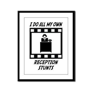 Reception Stunts Framed Panel Print