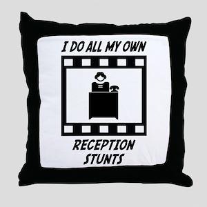 Reception Stunts Throw Pillow